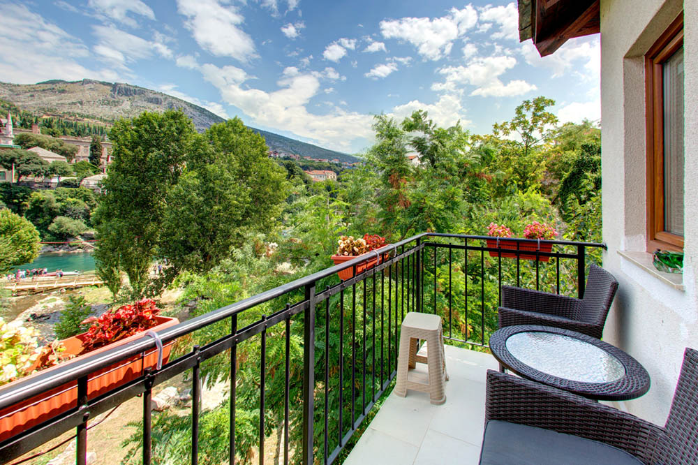villa pansion Nur Mostar pogled Stari most